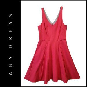 ABS Women Sleeveless Fit & Flare Dress Size L